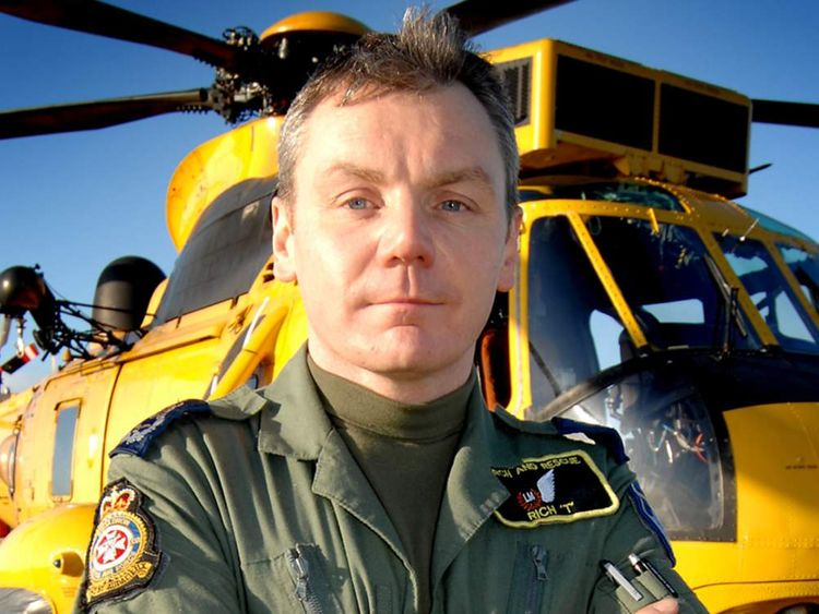 "On the evening of Jan 31 2008 Master Aircrewman Richard Taylor was the Paramedic Winchman called out to rescue the crew of the ""Riverdance."""