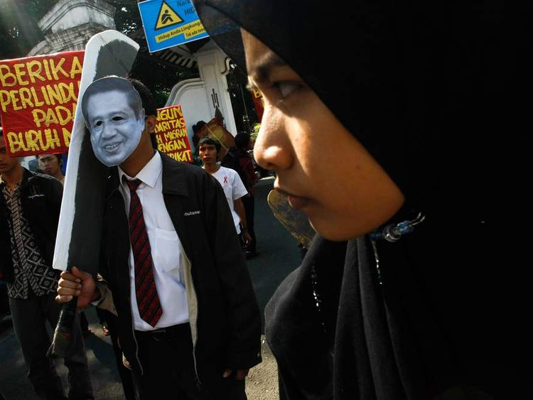 Protest Held In Indonesia Following Maid Beheading In Saudi Arabia