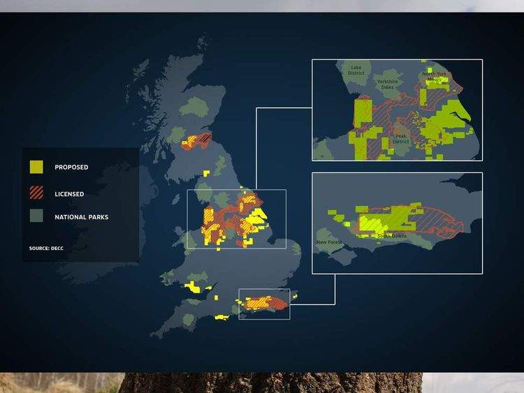 National parks and possible fracking sites