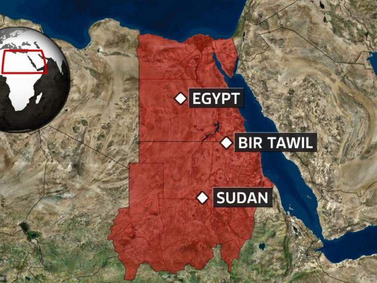 Bir Tawil Map