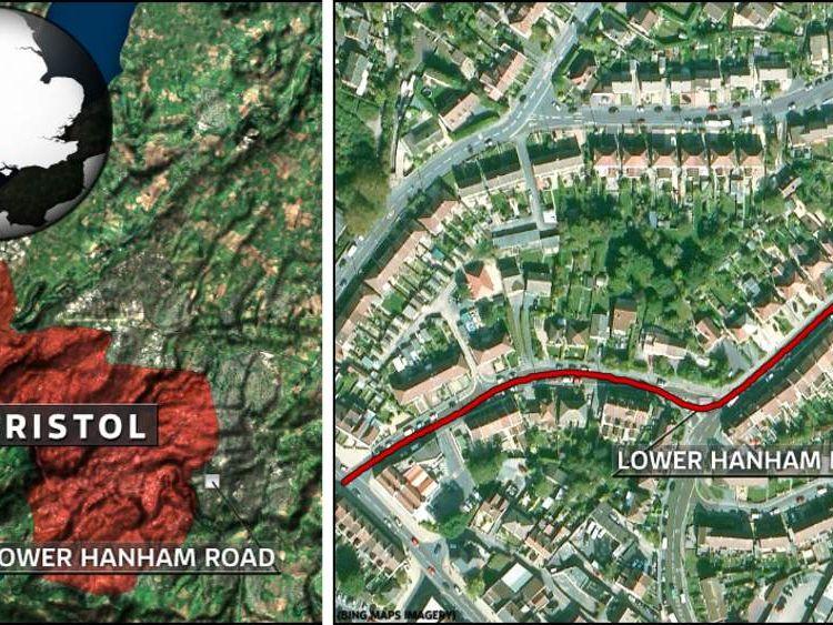 The crash happened on Lower Hanham Road