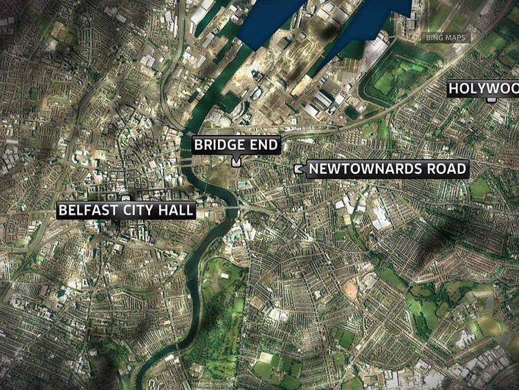 Belfast map showing areas of disturbance