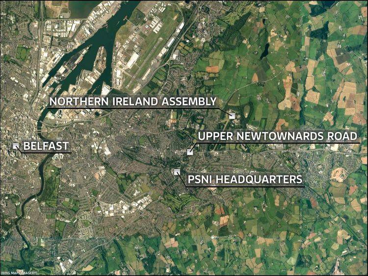 Map of Belfast showing Upper Newtownards Road