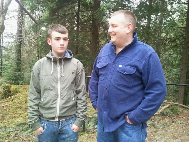 Mark O'Prey with his son Liam