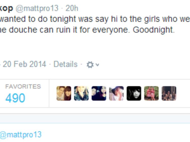 Tweet from Hyland's boyfriend