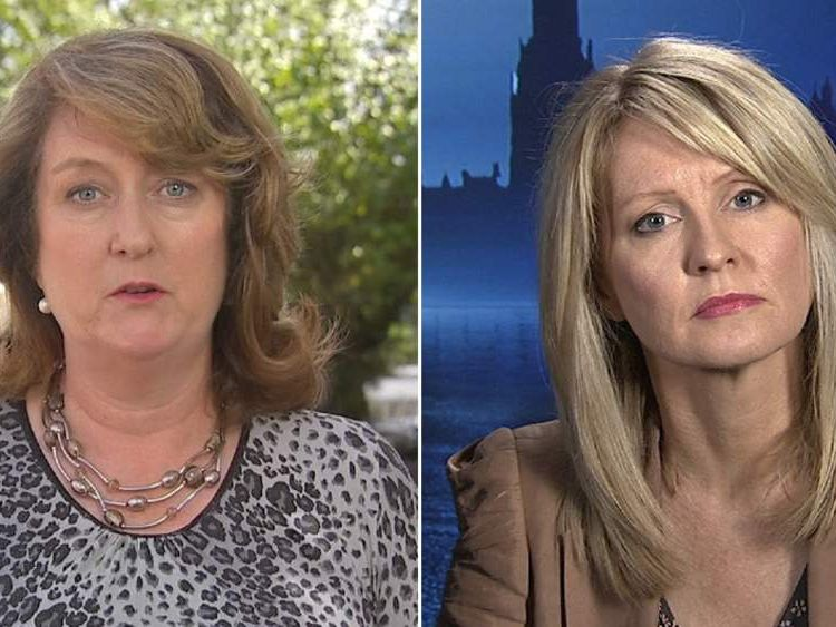 Jacqui Smith and Esther McVey