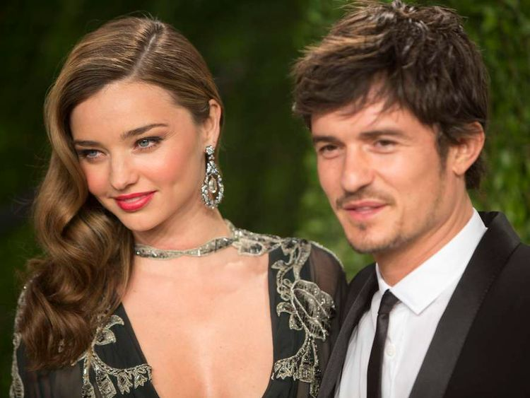 Miranda Kerr and Orlando Bloom at the Oscars
