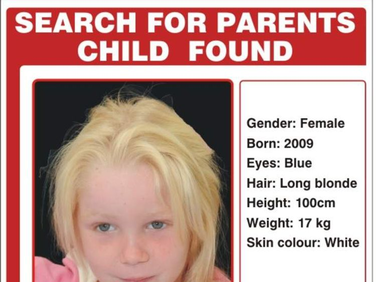 International hunt for real parents of blonde four-year-old