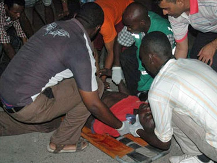 Mombasa bombing scene