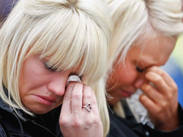 A Memorial Is Held For The Victims Of The North Sea Helicopter Crash