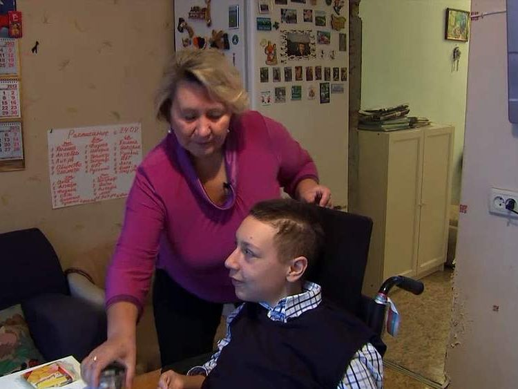 Kirill Drozdkov and his mother Valentina rely on NGOs in Russia