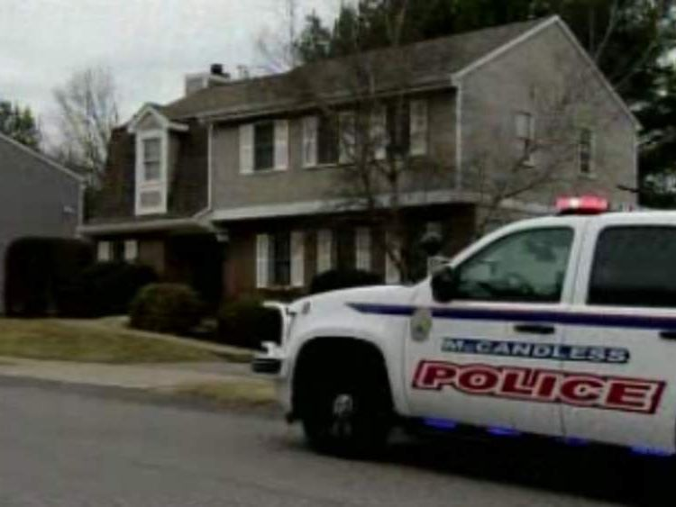 Schlemmer home in McCandless, Pennsylvania. Pic: KDKA-TV