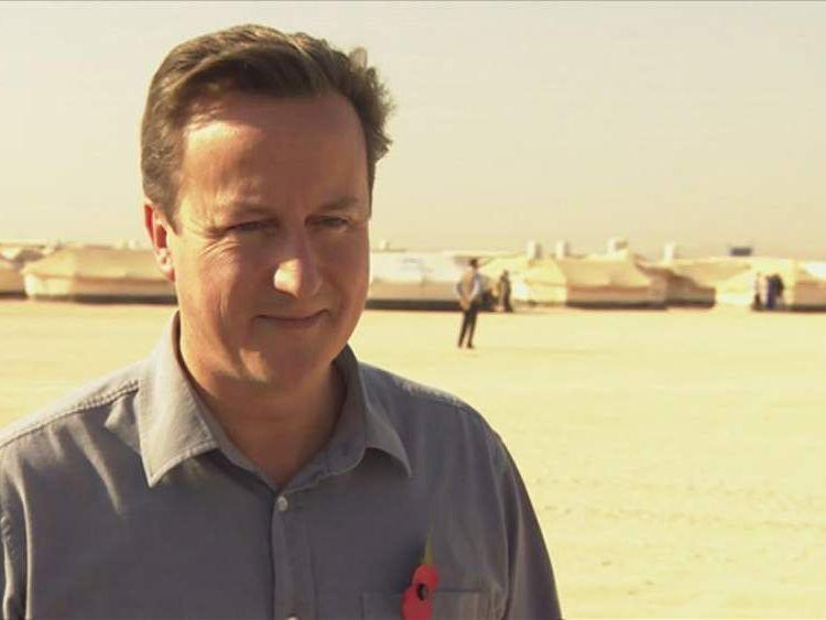 David Cameron in Jordan