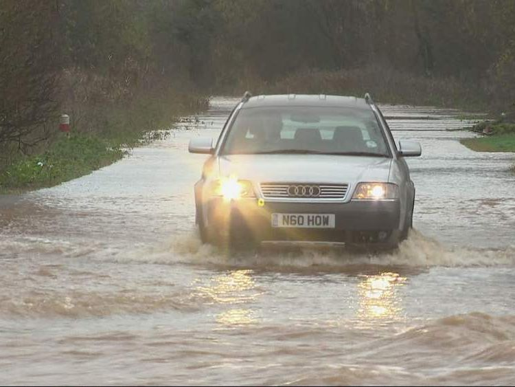 Floods East Lyng Somerset