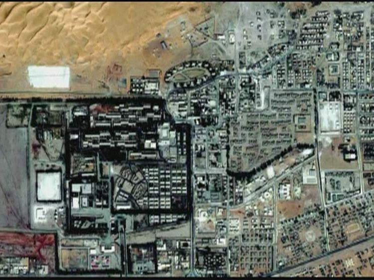Satellite aerial of BP plant at In Amenas Algeria