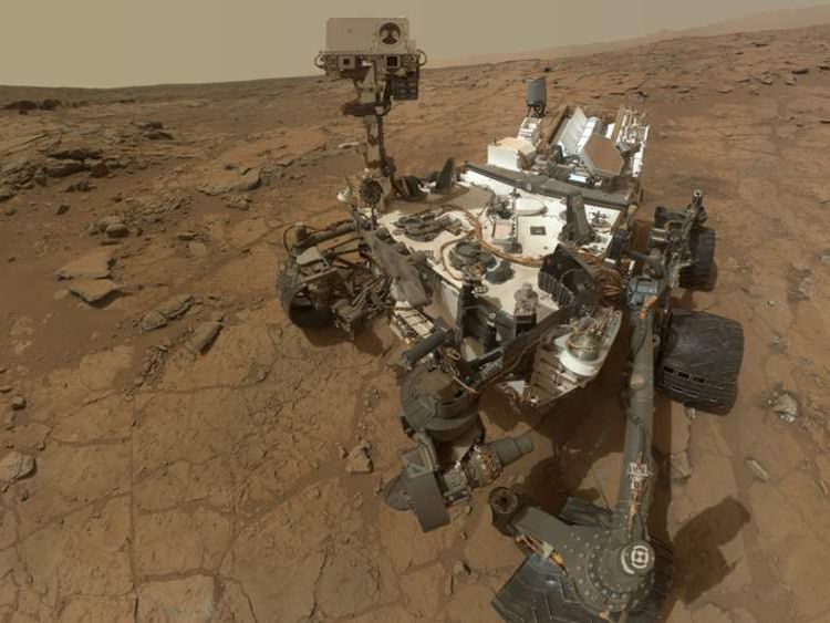 NASA's Curiosity rover took this self-portrait at the drilling site