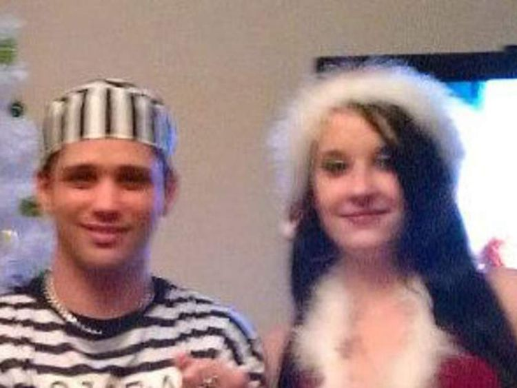 Nathan Matthews (L), step brother of Rebecca Watts and his girlfriend Shauna Hoare (R). Pics: Facebook