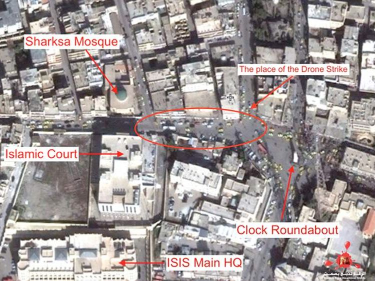 Jihadi John strike map