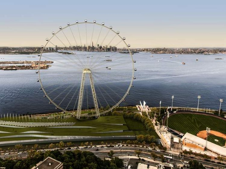 An artist's impression of the New York Wheel