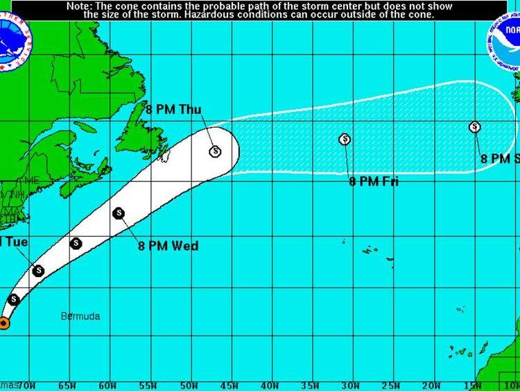 weakening Hurricane Bertha could be heading for UK