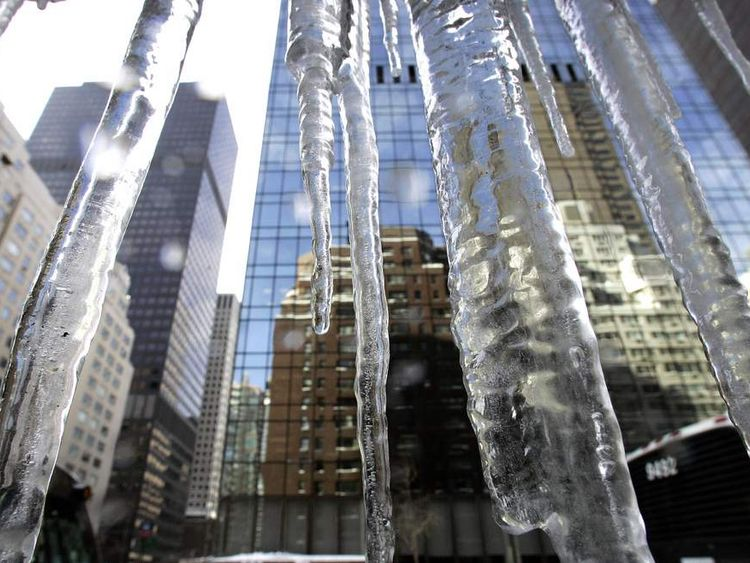 Icicles Across US