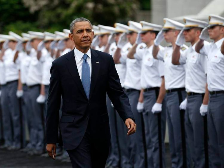 U.S. President Obama arrives for a commencement ceremony at the United States Military Academy at West Point