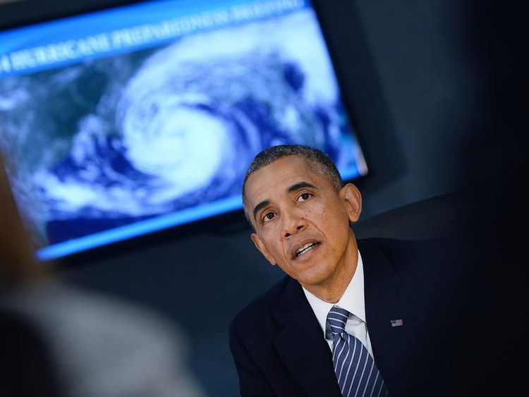 President Obama Visits FEMA Headquarters