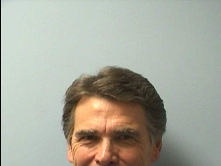 Texas Governor Rick Perry's mugshot