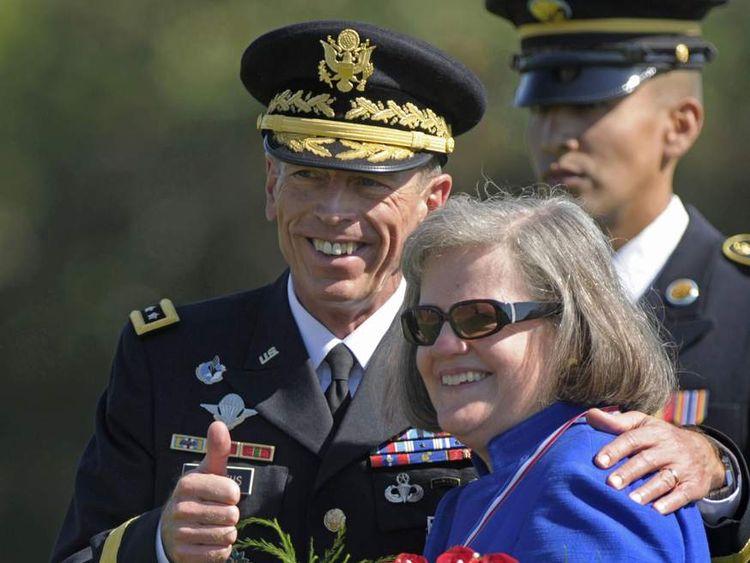 General David Petraeus with his wife Holly