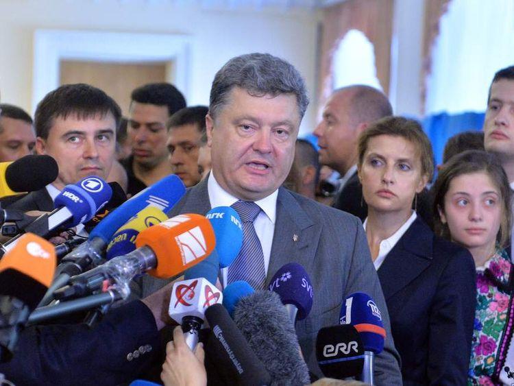 UKRAINE-RUSSIA-CRISIS-POLITICS-VOTE-POROSHENKO