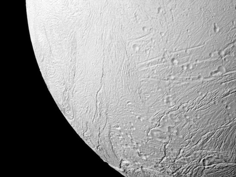 One of Saturn's moons Enceladus