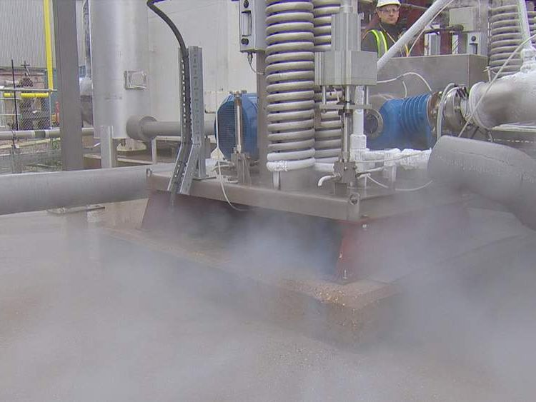 A liquid air pilot plant in Slough.