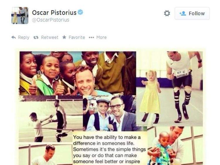 Oscar Pistorius tweets