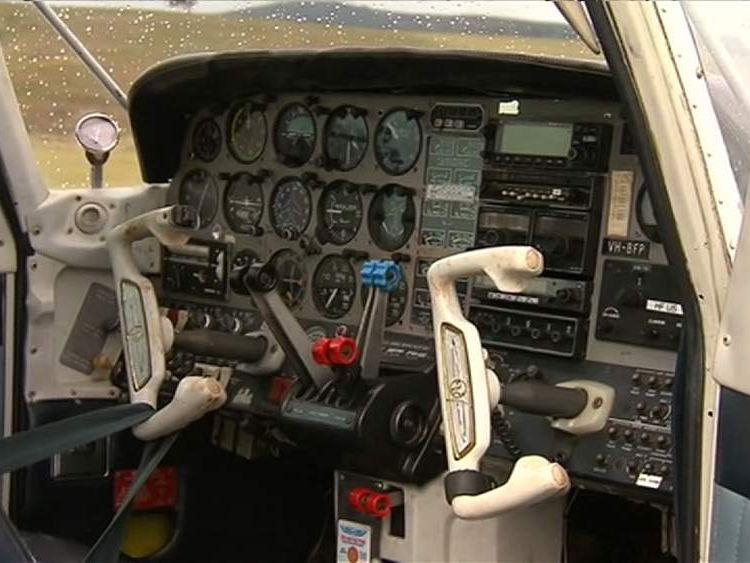 The controls of the plane