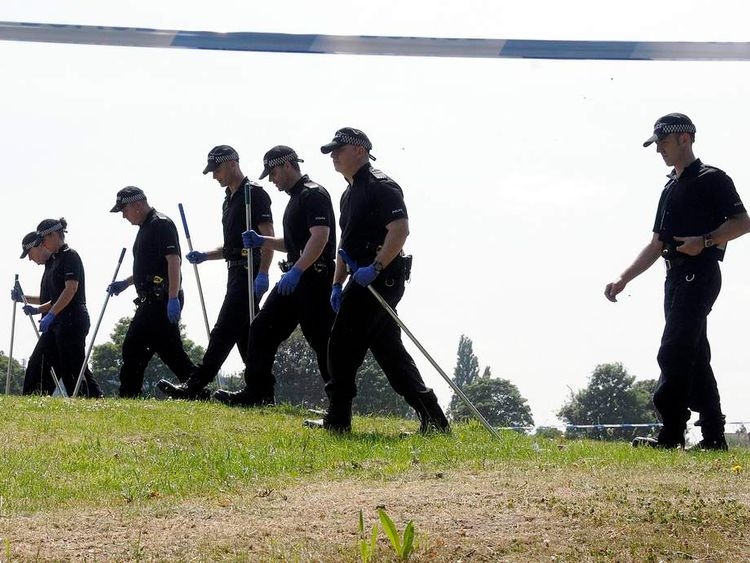 Police search Oaklands Park, Wash Lane, Yardley
