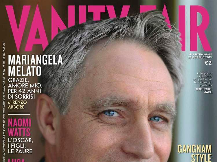 A cover of Italy's Vanity Fair magazine shows Archbishop Georg Ganswein on cover in this handout picture released by the Vanity Fair press office