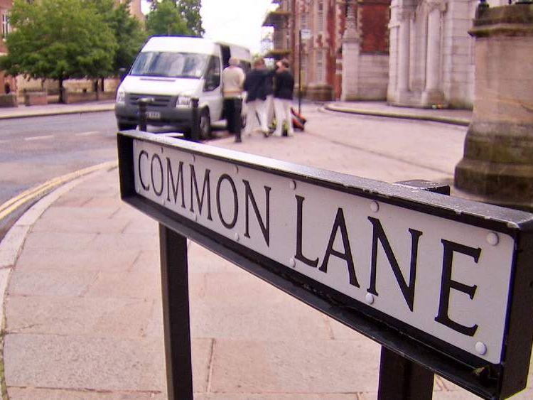 Common Lane sign