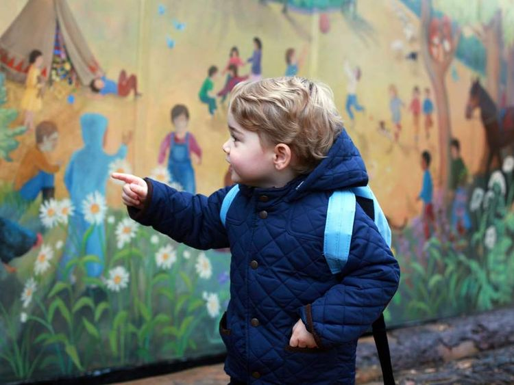 Prince George attends nursery school