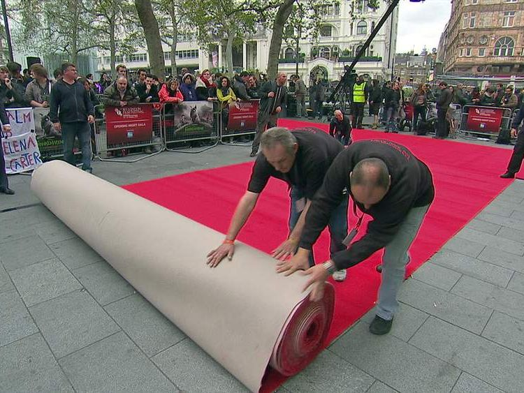 London Film Festival red carpet is rolled out