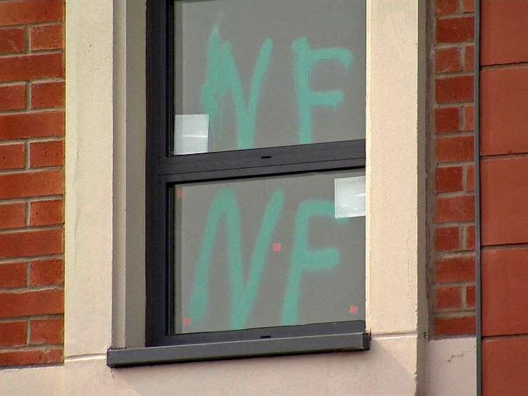 Graffiti daubed on windows and walls of Redditch mosque