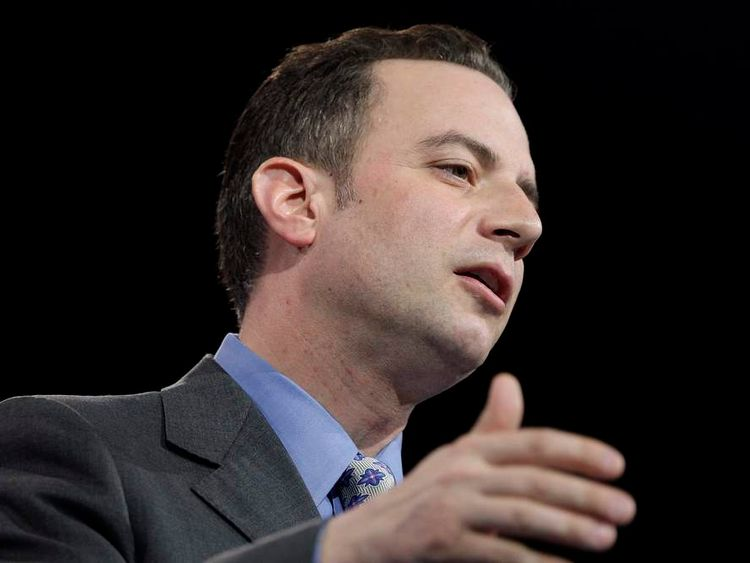 Priebus addresses the CPAC in National Harbor, Maryland