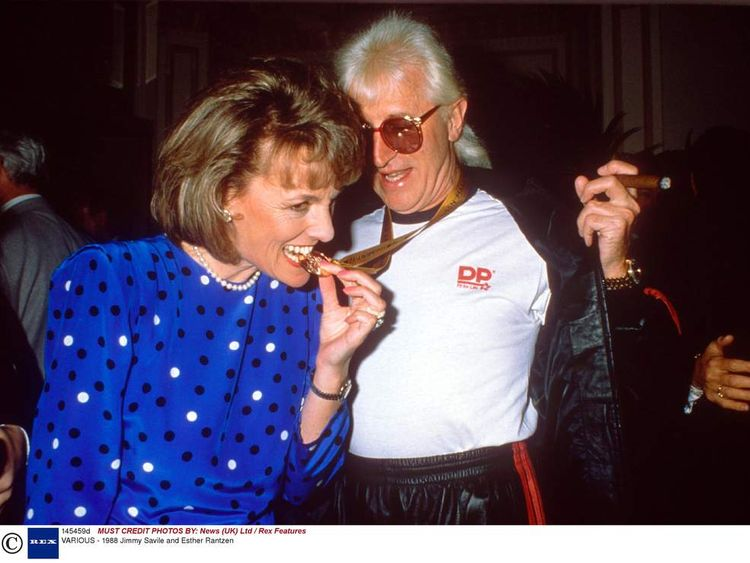 Jimmy Savile and Esther Rantzen in 1998