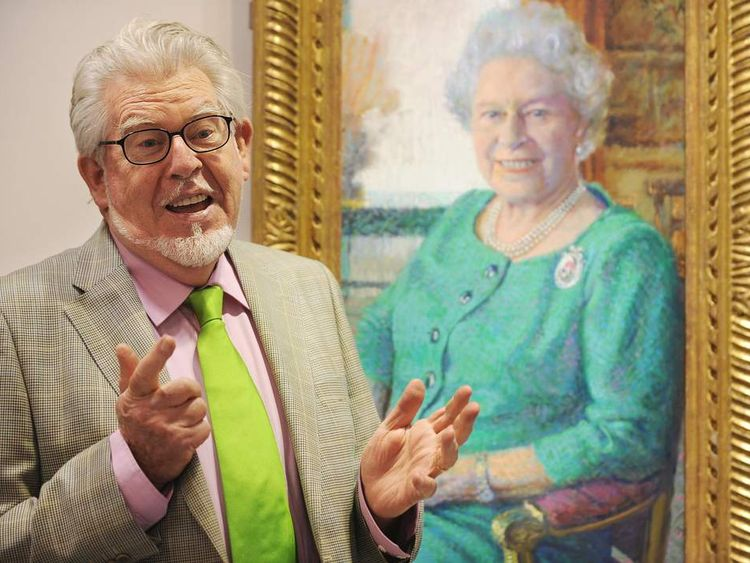 Australian artist Rolf Harris poses for