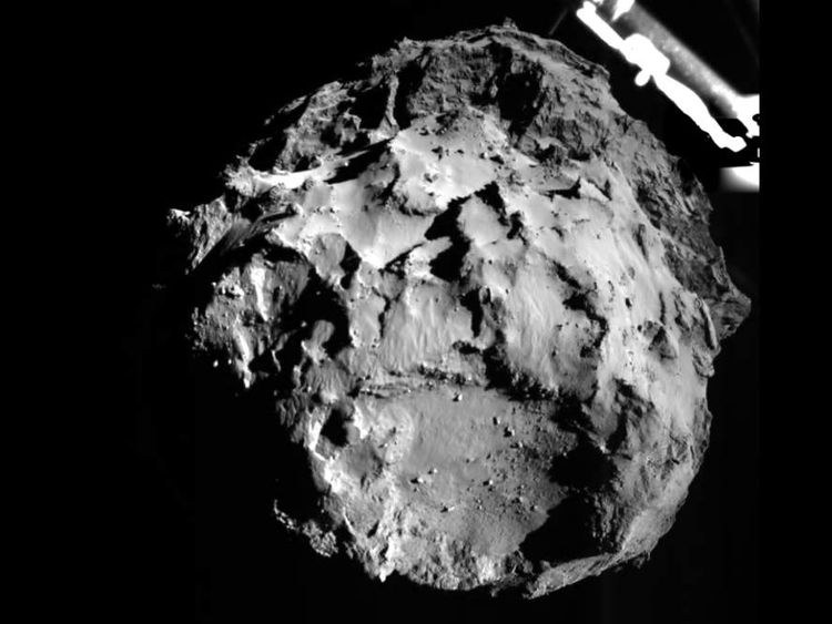Picture from instruments on the Philae Lander