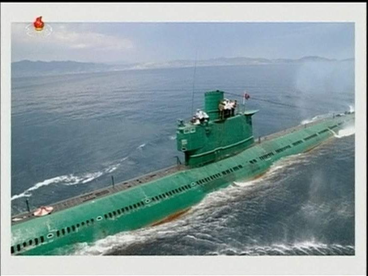 The Romeo class submarine that Kim Jong-un was riding in