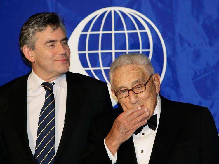 Gordon Brown and former US Secretary of State Henry Kissinger