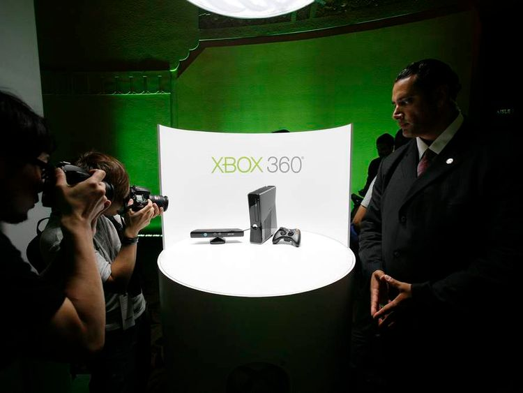 Photographers take pictures of Xbox 360