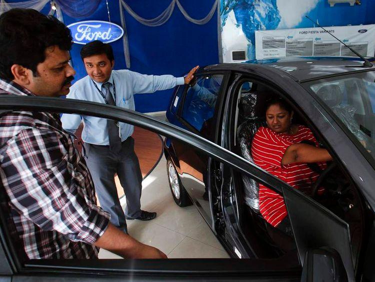Ford showroom in Mumbai, India