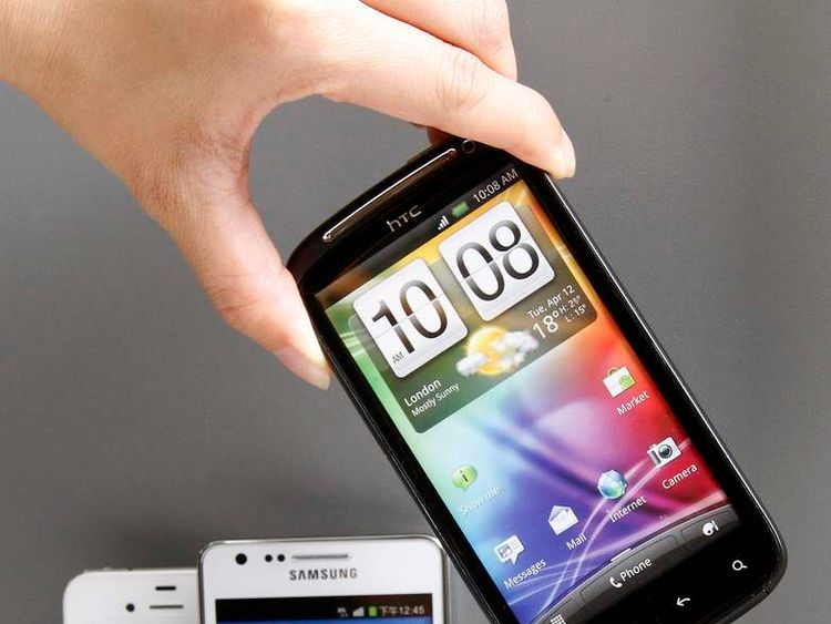HTC, Samsung and Apple smartphones 2012
