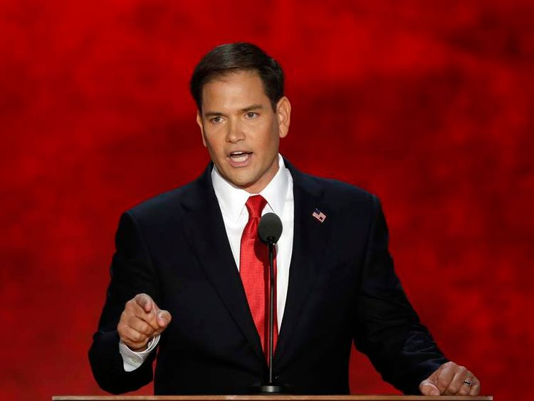 Marco Rubio speaks at Republican National Convention